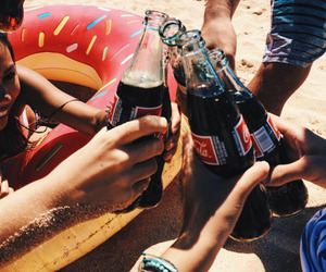 summer, beach, and coca cola image
