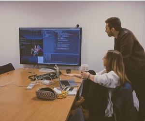brainstorming, hacker, and team work image