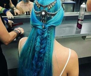 accessories, hairstyles, and blue image