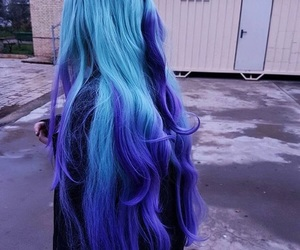 blue, colors, and hair image