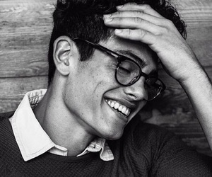 boy, smile, and black and white image