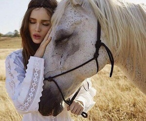 horse and model image