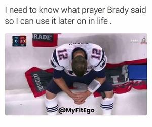 prayer and tom brady image