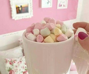 chocolate, marshmallow, and pink image