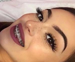 braces, makeup, and baddie image