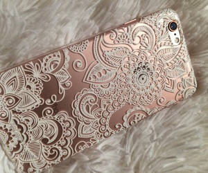 case, iphone, and oro rosa image