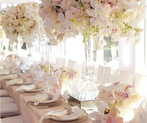 flowers, table, and dream wedding image