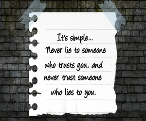 quote, lies, and trust image