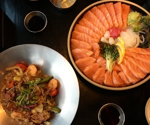 food, korea, and salmon image