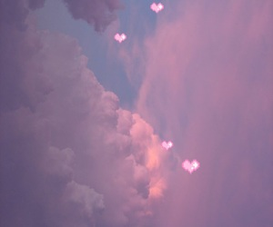 clouds, cute, and hearts image