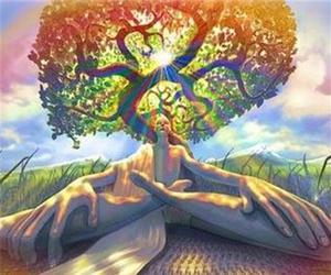 tree, trippy, and art image
