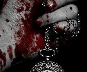 blood, clock, and time image