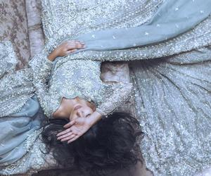 dress, bride, and saree image