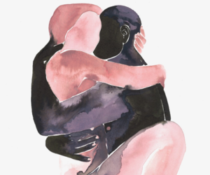 draw, watercolor, and love image