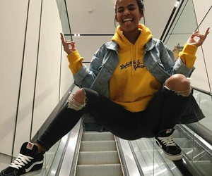 girl, yellow, and vans image