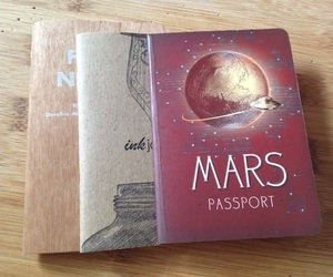 book, passport, and travel image