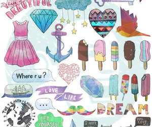 stickers and tumblr image