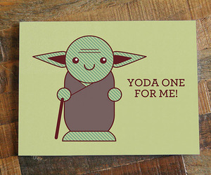 yoda, love, and card image