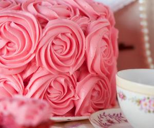 pink, cake, and rose image