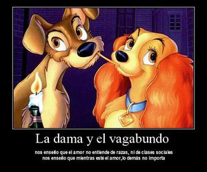 childhood, disney, and the lady and the tramp image