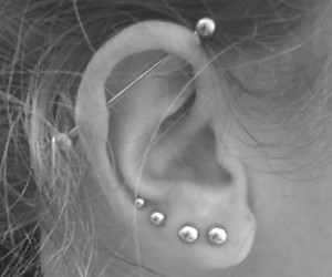 ear, industrial, and lobe image