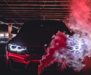 car and smoke image