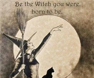 witch, art, and broom image