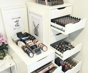 acrilic, makeup, and storage image