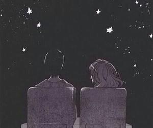 stars, gif, and couple image