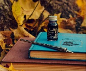 autumn, books, and pen image