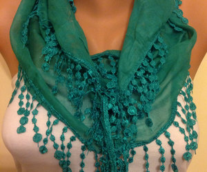 etsy, green scarf, and cowl scarf image