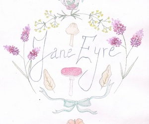 art, flowers, and jane eyre image