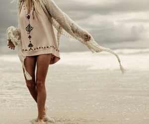 beach, girl, and blond image