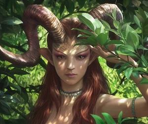 antlers, fantasy, and fantasy art image