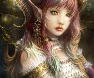 antlers, art, and elven image