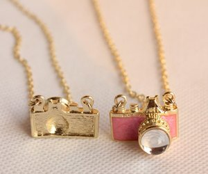 cute, necklace, and pink image