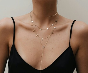 chic, fashion, and necklaces image