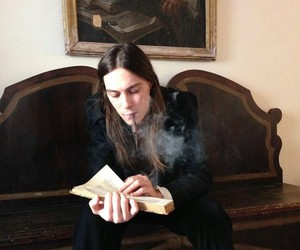 male model, smoke, and long haired guy image