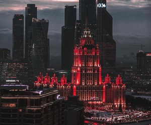 moscow, city, and red image