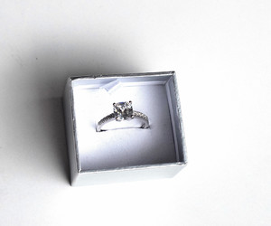 diamond ring, romance, and wedding image