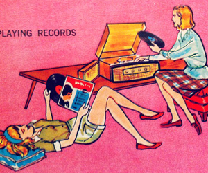 record, girls, and pink image