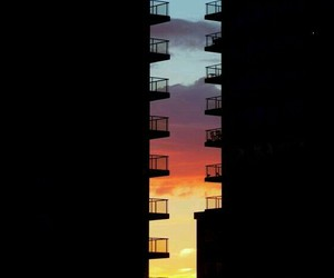 sunset, sky, and colors image
