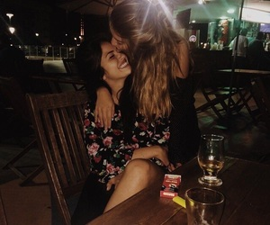 beautiful, girl, and kissing image