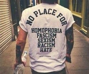 hate, racism, and homophobia image