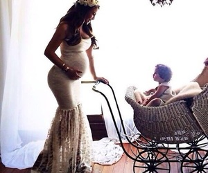 baby, dress, and pregnant image