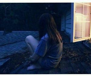 girl, sad, and night image