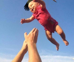 baby, stork, and funny image