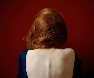 back, ginger, and girl image