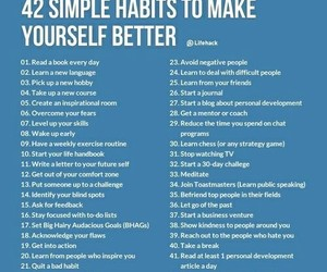 habits and life image