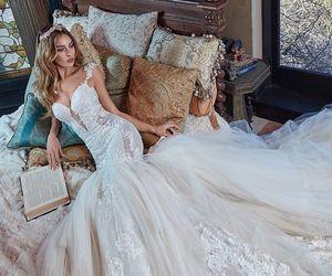 beautiful, bride, and wedding dress image